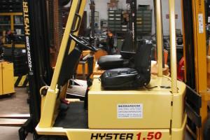 Stato: Nuovo o Usato Modello: Hyster A 1.50 XL Montante: Triplex Gal H 4500 mm Portata kg: 1500 Dichiarazione di Conformità: CE